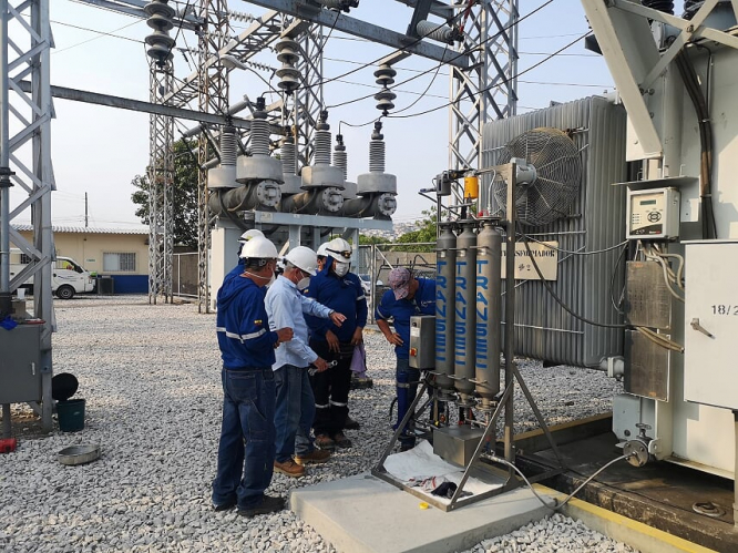 First installation of TRANSEC units in Ecuador